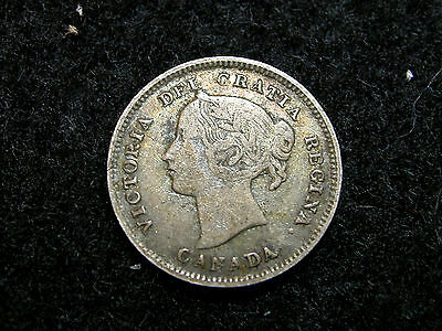 FH-5: CANADA, Silver 5 Cents dated 1893