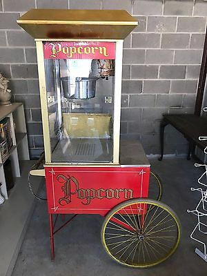 "Vintage Gold Medal ""Gay 90's""  Popcorn Machine on Cart Man Cave Antique"