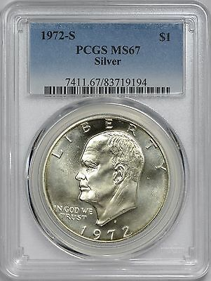 1972-S Silver Eisenhower Dollar PCGS MS67