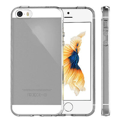 Luxury TPU Soft Rubber Transparent Shockproof Back Case Cover For iPhone 5 SE 5S