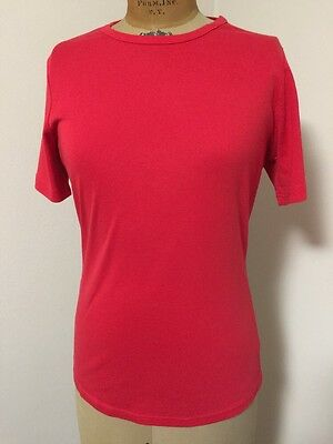 Women's DULUTH TRADING COMPANY Size Small Red Longtail Short Sleeve T-Shirt