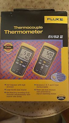 Fluke Thermocouple Thermometer 51/52 II, new in box, never used.