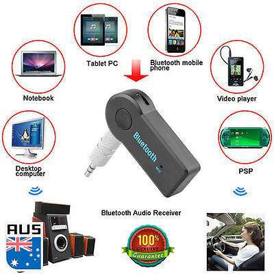 Audio Stereo Car 3.5mm to Bluetooth AUX Music Home Car Receiver Adapter Wireless