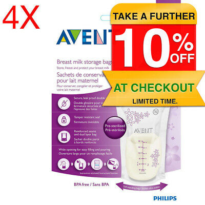 Philips Avent SCF603 100PK Breast Milk Storage Bags 180ml BPA Free/Baby Feeding