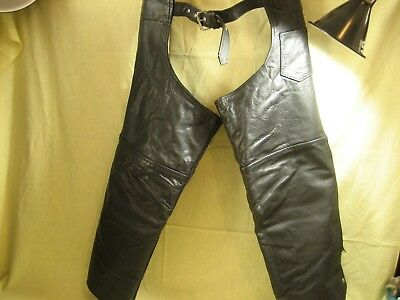 Putman Leather Gold Motorcycle Chaps Sz XL