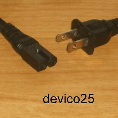 Lot=4: Universal Electronic Ac Power Cord/cable~2-Pin Square/round Connector
