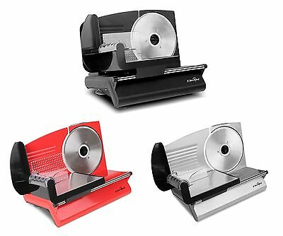 Meat Slicer with Stainless Steel Blade - Red, Black or Stainless Steel