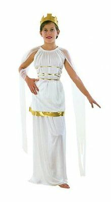 Girls Fancy Dress Costume Athena - Large Toga Party Rome Sparticus