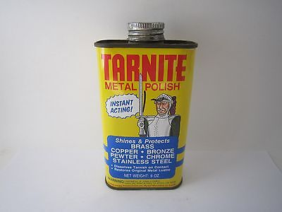 Vintage Tarnite Best Metal Polish Ever Made 9 oz Full Can