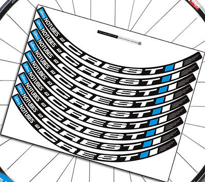 17 Two wheels rim set stickers for stan's NOTUBES CREST MTB Mountain bike decals