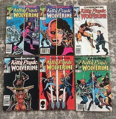Marvel Comic Kitty Pryde and Wolverine 1 2 3 4 5 6 Complete Set