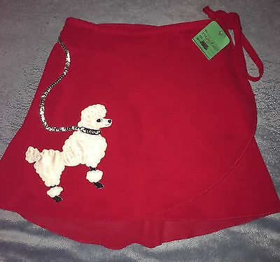 Mirella Dancewear One Size Red Wrap Skirt Poddle Skirt Approx 13 Inches