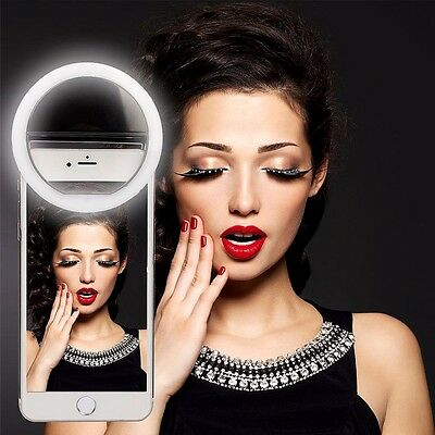 LED Rechargeable Clip Fill Flash Light Selfie Ring For iPhone Cell Phone su5