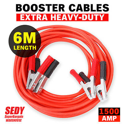 GENUINE 6M 1500AMP Jumper Leads Battery Start Starter Booster Cable Car Truck