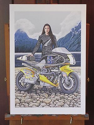 Britten V1000 motorcycle 13x19 inch Art Print 1 of 400 hand signed by the artist