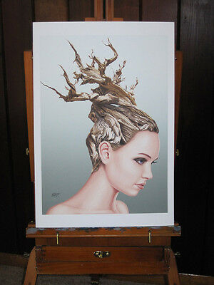 Bristlecone Hairstyle Art Print 13x19 inch Signed and Numbered limited edition