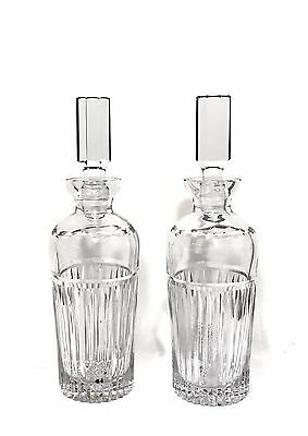 Pair Of Antique Cut Crystal Deco Style Decanters