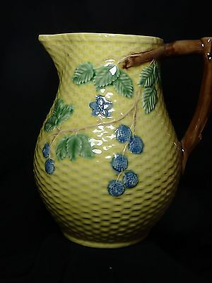 Pitcher Tiffany & Co Blackberries Pattern Majolica  Portugal