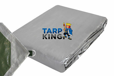 3.0m x 4.0m Waterproof Camping Tarpaulin - 240gsm Heavy Duty Poly D Ring Tarp