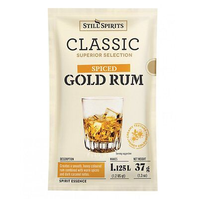 Still Spirits Classic Spiced Gold Rum Essence 2 Sachets - Home Brew Spirits