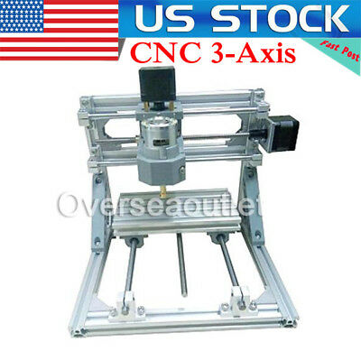 US!!Mini 3-Axis CNC Router Engraver DIY Carving Machine for PCB PVC Milling Wood