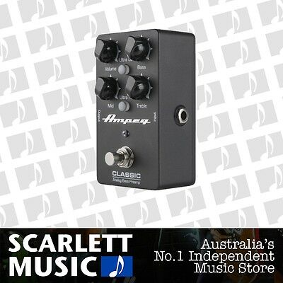 Ampeg Classic Bass Analog Preamp Effect Pedal *BRAND NEW*
