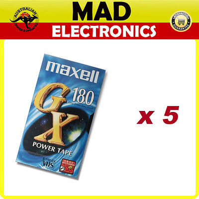 VHS VIDEO CASSETTE TAPE Maxell 180 min Pack of 5