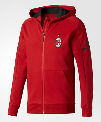 Ac Milan Adidas Training Jacket 2017 18 Anthem Hoodie Red