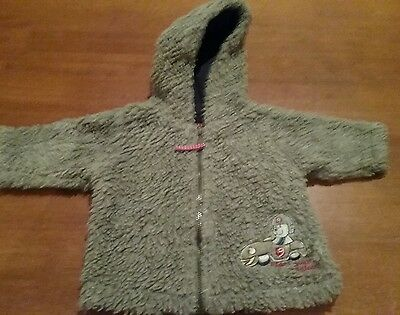 Cute fluffy cotton jacket, size 000, target, grey, great cond.