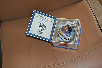 coffret neuf pinocchio walt disney boule de noel collection INTROUVABLE disney s