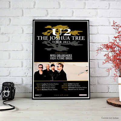 U2 - The Joshua Tree Tour 2017 (Europe Tour) FINE ART PRINT POSTER
