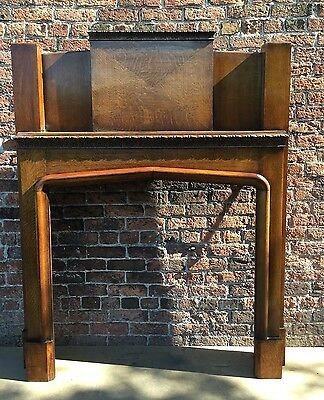 Beautiful Original Edwardian  solid oak Fire Surround ( Del £25 Max )