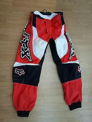 Fox motorbike pants, men's size 34, red,  black and white
