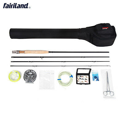 Fly Fishing set 5/6 Starter Package including, rod, reel, line combos with case