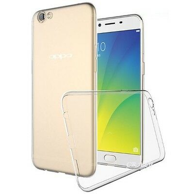 Soft Gel Clear Transparent TPU Case Cover For Oppo A57 + Screen Protector