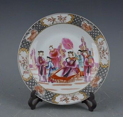 Chinese Hand-painted Famille-rose Character story Porcelain plate