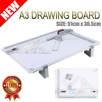 A3 Drawing Board Portable Drafting Table + Parallel Motion Adjust Angle AU SHIP