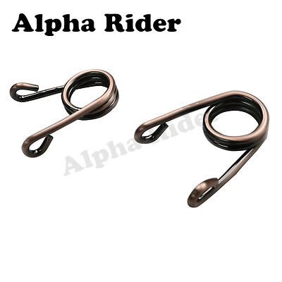 "Brown 2"" Solo Springs Clip Saddle Seat For Harley Custom Triumph Chopper Bobber"