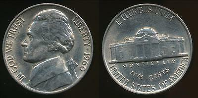 United States, 1960 5 Cents, Jefferson Nickel - Uncirculated