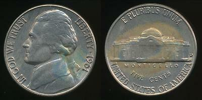 United States, 1961-D 5 Cents, Jefferson Nickel - Uncirculated