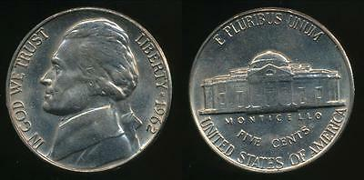 United States, 1962-P 5 Cents, Jefferson Nickel - Uncirculated