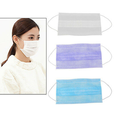 30/50/100 Dental Disposable Medical Dust Mouth Surgical Mask Respirator 3-Ply