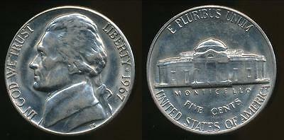 United States, 1967-P 5 Cents, Jefferson Nickel - Uncirculated