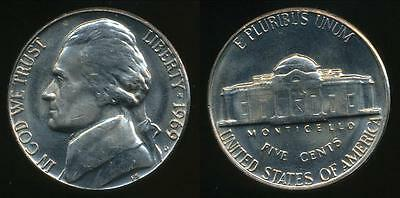 United States, 1969-D 5 Cents, Jefferson Nickel - Uncirculated