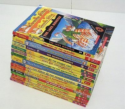 bulk lot of 16 books GERONIMO STILTON & Thea Stilton