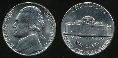 United States, 1974-D 5 Cents, Jefferson Nickel - Uncirculated