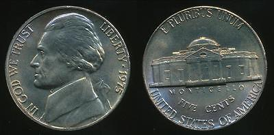 United States, 1975-P 5 Cents, Jefferson Nickel - Uncirculated
