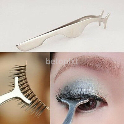 Pro Beauty False Eyelashes Extension Applicator Remover Tweezer Clip Nipper Tool