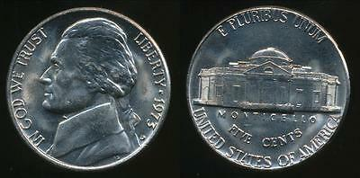 United States, 1973-D 5 Cents, Jefferson Nickel - Uncirculated
