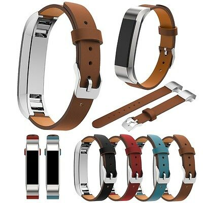 Replacement Genuine Leather Wrist Watch Band Strap Bracelet For Fitbit Alta AU